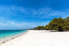 White sand beach in Cuba Royalty Free Stock Image