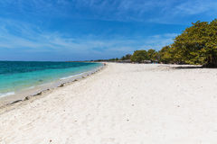 White sand beach in Cuba Royalty Free Stock Images
