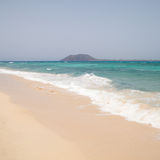 White sand beach on Fuerteventura Stock Photography