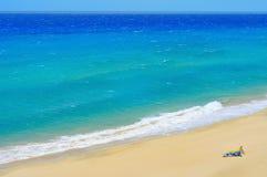 White sand beach in Fuerteventura Royalty Free Stock Photography