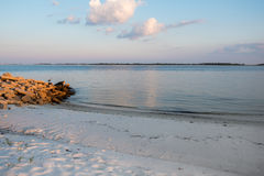 Free White Sand Beach In Florida With Great Blue Heron And Ocean Stock Photos - 98455933