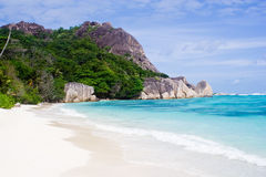 White sand on a beach on island Royalty Free Stock Images