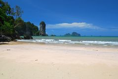 White sand beach and island. In thailand Royalty Free Stock Photos