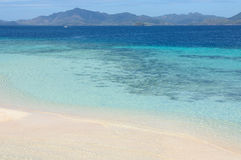 White sand beach island Stock Image