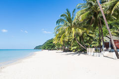 White sand beach in Koh Chang Royalty Free Stock Photography