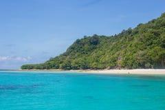 White sand beach of koh rok island Stock Images