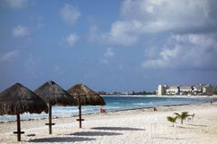 White Sand Beach of La isla Dorado, Cancun Stock Image
