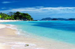 White sand beach. Malcapuya island, Coron, Philipp Royalty Free Stock Photography