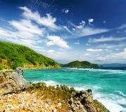 White sand beach. Malcapuya island, Philippines Stock Image