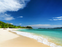 White sand beach. Malcapuya island, Philippines Royalty Free Stock Photos