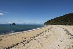 White sand beach, New Zealand Royalty Free Stock Photos