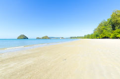 White sand on the beach. Nopparata Tara Beach. Stock Images