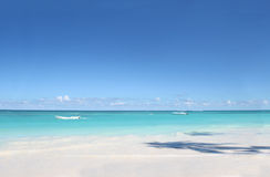 White Sand Beach and Ocean Background royalty free stock photography