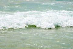 White sand beach (ocean, sea, sand, shore) and wave blue sky. Ko Stock Image