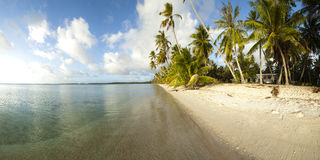 White sand beach panoramic view Royalty Free Stock Images