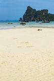 White sand beach at Phi Phi Island, Krabi, Thailand Stock Photography