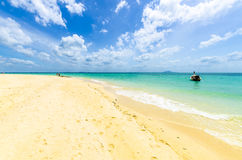 White sand on the beach. on Poda Island Thailand Royalty Free Stock Images
