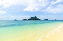White sand on the beach. on Poda Island Thailand Stock Images