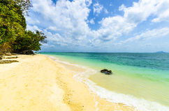 White sand on the beach. on Poda Island Thailand Stock Image