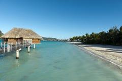 White Sand Beach in Polynesia Stock Photo