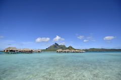 White Sand Beach in Polynesia Stock Photography