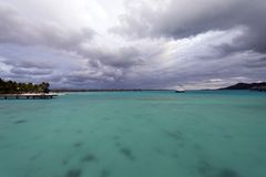 White Sand Beach in Polynesia Stock Photo