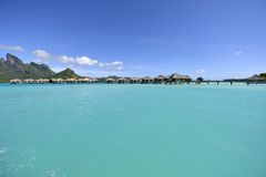 White Sand Beach in Polynesia Stock Photography