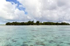 White Sand Beach in Polynesia Stock Images