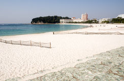 White sand beach Royalty Free Stock Photography