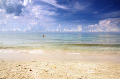 The White Sand Beach on Koh Chang island, Thailand. stock photos