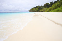 White sand beach of tachai island southern thailand Stock Photography