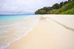 White sand beach of tachai island southern thailand Royalty Free Stock Photos