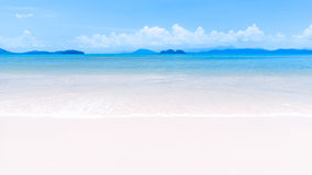 White sand beach on tropical island royalty free stock photography