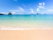 White sand beach. And tropical sea Stock Photos
