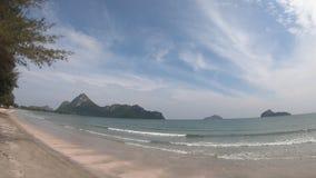 White sand beach in a tropical. Time Lapse of Blue Lagoon Beach in Mueang Prachuap Khiri Khan at thailand