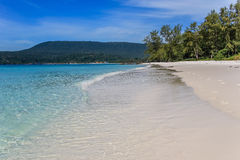 White sand. Beach and turquoise sea Stock Image