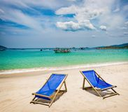 White sand beach. Vietnam royalty free stock photo