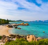 White sand beach. Vietnam. Stock Image