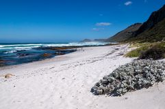 The white sand beaches along the beautiful and scenic coastal road of the Garden Route, South Africa. stock images