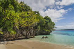 White sand beaches in the kingdom of Tonga Stock Photography