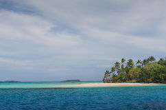 White sand beaches in the kingdom of Tonga Stock Images