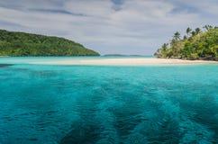White sand beaches in the kingdom of Tonga Stock Photo