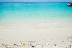 White sand with blue emerald crystal sea Royalty Free Stock Image