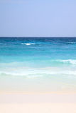 White sand with blue sea and sky Royalty Free Stock Photography