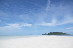 White sand and blue sky. At Koh Phangan, Southern Thailand Stock Image