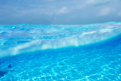 A white sand bottom in clear water Stock Photo
