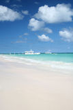 White sand Caribbean beach Stock Photography
