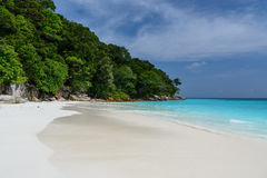 White sand and clear sea water at Tachai Island. Tachai beach - 800m with Stunning crystal clear water Stock Images