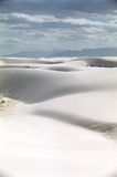 White sand desert. With endless background, New Mexico royalty free stock images