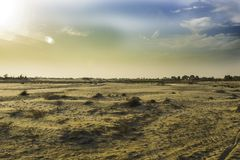 White sand desert in pakistan,landscape stock image